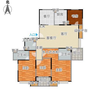 保利家园180.00㎡N户型四室两厅三卫户型4室2厅3卫