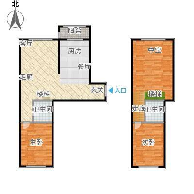 江霆华府93.88㎡项目复式使用面积93.88平米户型2室2厅2卫