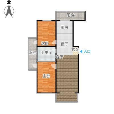 江霆华府78.75㎡项目高层使用面积78.75平米边户户型2室1厅1卫