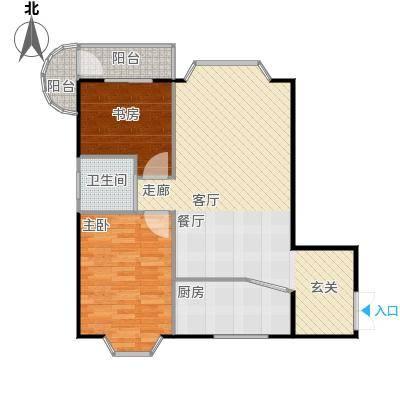 鹦鹉花园(六期)82.85㎡房型: 二房; 面积段: 82.85 -103.29 平方米;户型