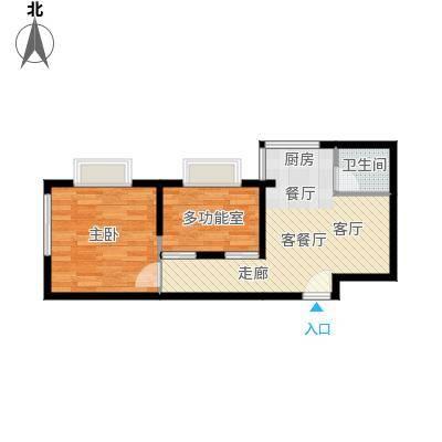 三亚南新悦城50.73㎡5、10号房户型3室2厅2卫
