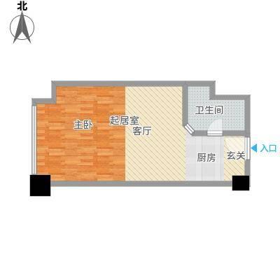 万豪国际53.00㎡可乐蜗B户型1室1厅1卫