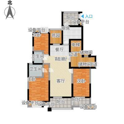 亚东朴园户型3室1厅2卫1厨