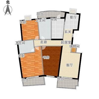 芳卉园(三期)116.14㎡房型: 三房; 面积段: 116.14 -170.21 平方米;户型