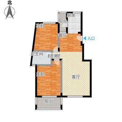 花前树下(二期)93.81㎡房型: 二房; 面积段: 93.81 -106.09 平方米;户型