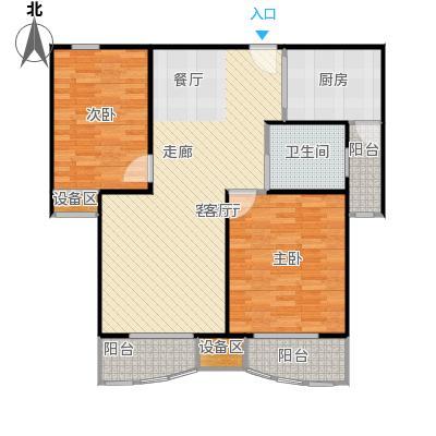 均泰丽轩2室2厅1卫 99.86㎡ 2室2厅1卫1厨99.86㎡户型