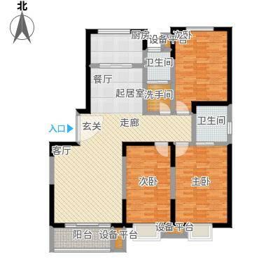 闻喜小区B-3室2厅2卫户型
