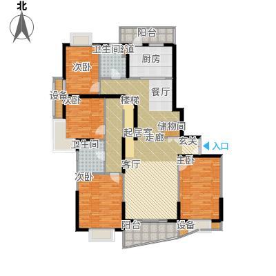 静安阳光华庭166.22㎡房型: 四房; 面积段: 166.22 -166.22 平方米; 户型