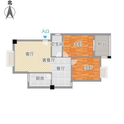 绿洲富城80.37㎡80.37-80.88㎡户型2室2厅1卫