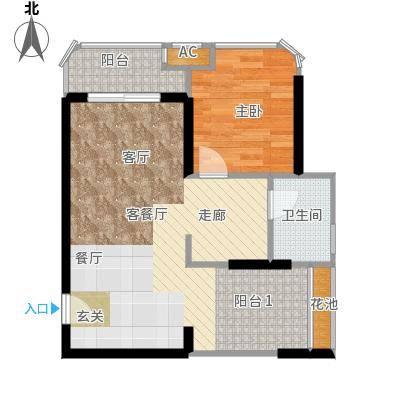 三亚一山湖60.56㎡B户型2室1厅1卫