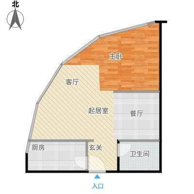 卓达中苑商务大厦A座A户型一室两厅一卫户型1室2厅1卫