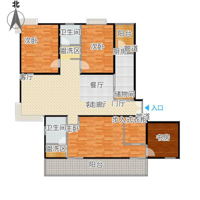 静安风华苑158.86㎡房型: 四房; 面积段: 158.86 -181.67 平方米; 户型