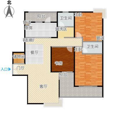 静安风华苑133.00㎡房型: 三房; 面积段: 133 -154 平方米; 户型
