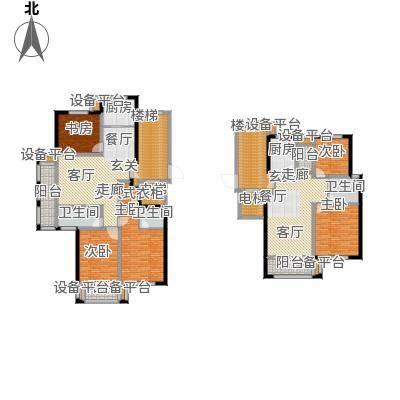 新鹏阳光华庭125.60㎡A型户型3室2厅1卫