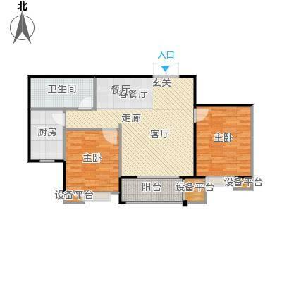北郡帕提欧95.14㎡3、4号楼G户型2室2厅1卫户型2室2厅1卫