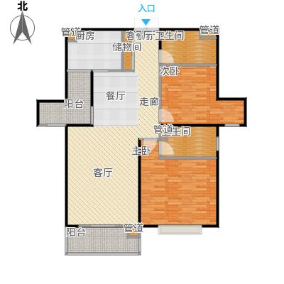 静安风华苑110.00㎡房型: 二房; 面积段: 110 -122 平方米; 户型