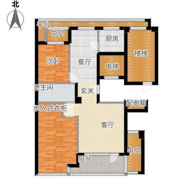 绿城百合花园100.00㎡D10号楼 两室两厅一卫户型2室2厅1卫