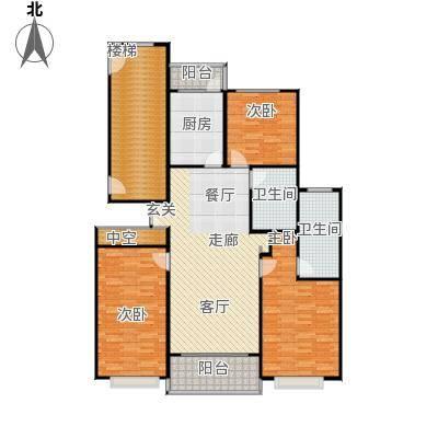 康宁雅庭146.98㎡房型: 三房; 面积段: 146.98 -160.89 平方米;户型
