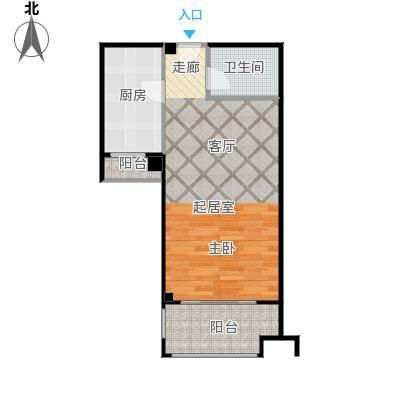 中誉南岸公馆49.31㎡少公馆单身公寓户型1室1厅1卫