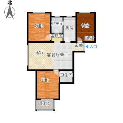 水印城110.90㎡户型3室2厅2卫