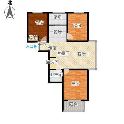 水印城110.10㎡户型3室2厅2卫