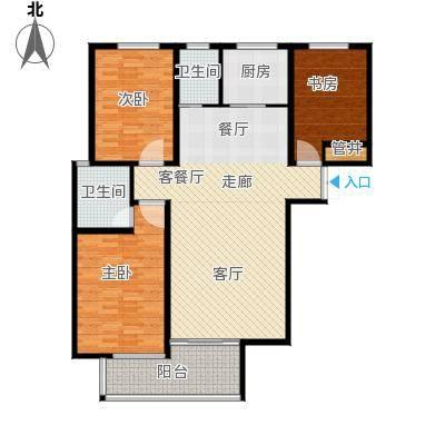 水印城125.70㎡户型3室2厅2卫