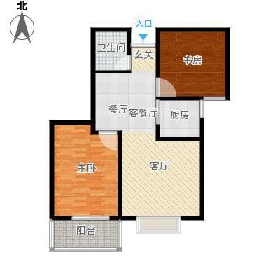 水印城81.80㎡户型2室2厅2卫