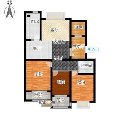 龙元世纪广场户型3室1厅1卫1厨