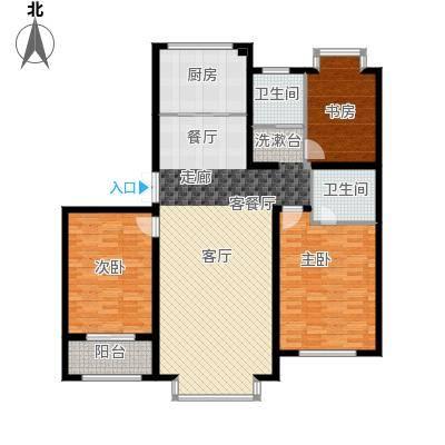 龙元世纪广场户型3室1厅2卫1厨