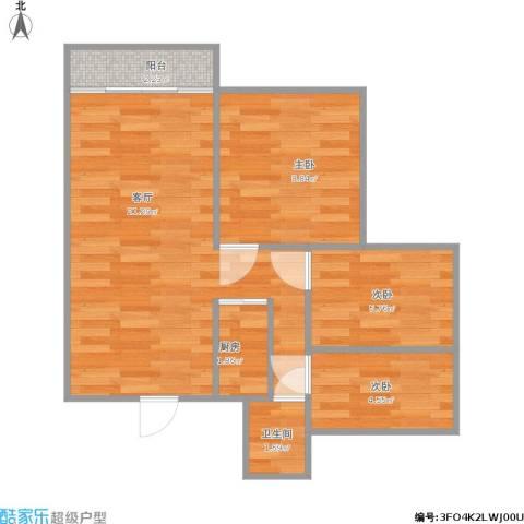龙军花园三期103方C户型三室两厅