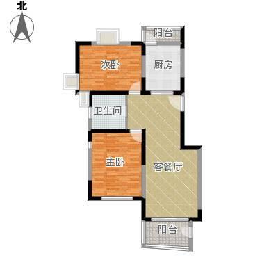 中星海上华庭房型:二房
