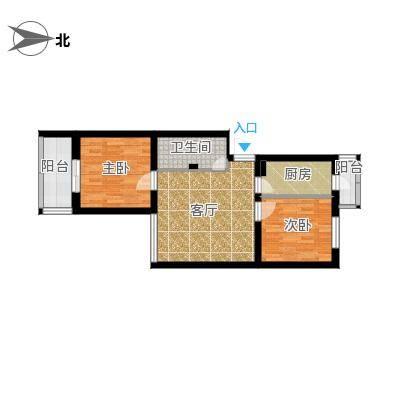 马南里小区两居室-改卫生间门位置