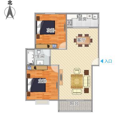 两室一厅海尚康庭户型图