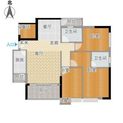 岭南雅苑115.73㎡1号楼2单位03户型3室2厅2卫1厨户型3室2厅2卫