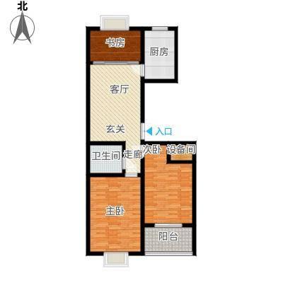 东城新华风景92.93㎡二期 7# 户型 三室两厅一卫户型3室2厅1卫