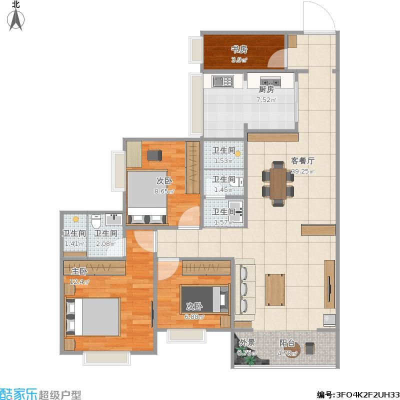 户型设计 我的小型飞机场的修改建议  四川 广安 盛世国际 套内面积
