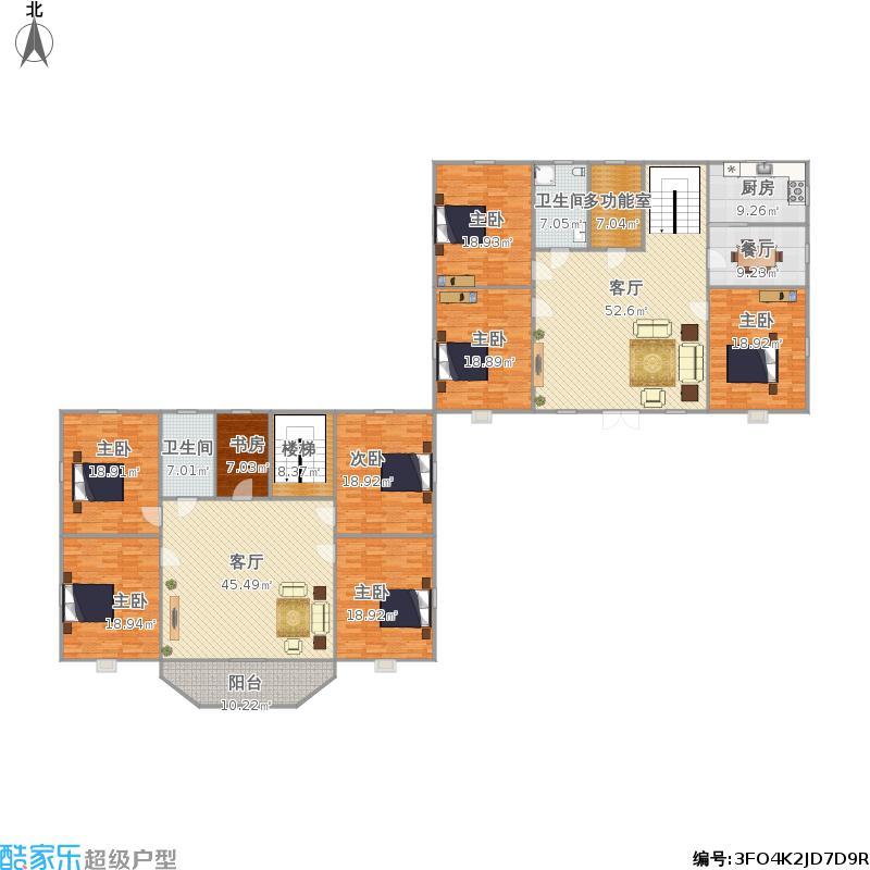 二百平方米两层楼房设计图展示
