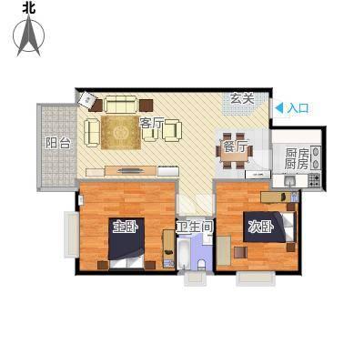 烟台 岭秀 两室两厅