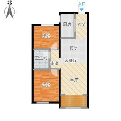 中海银海熙岸84.00㎡A1户型