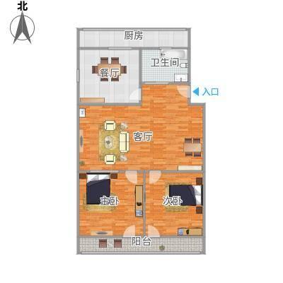 中刘小区15号108户型