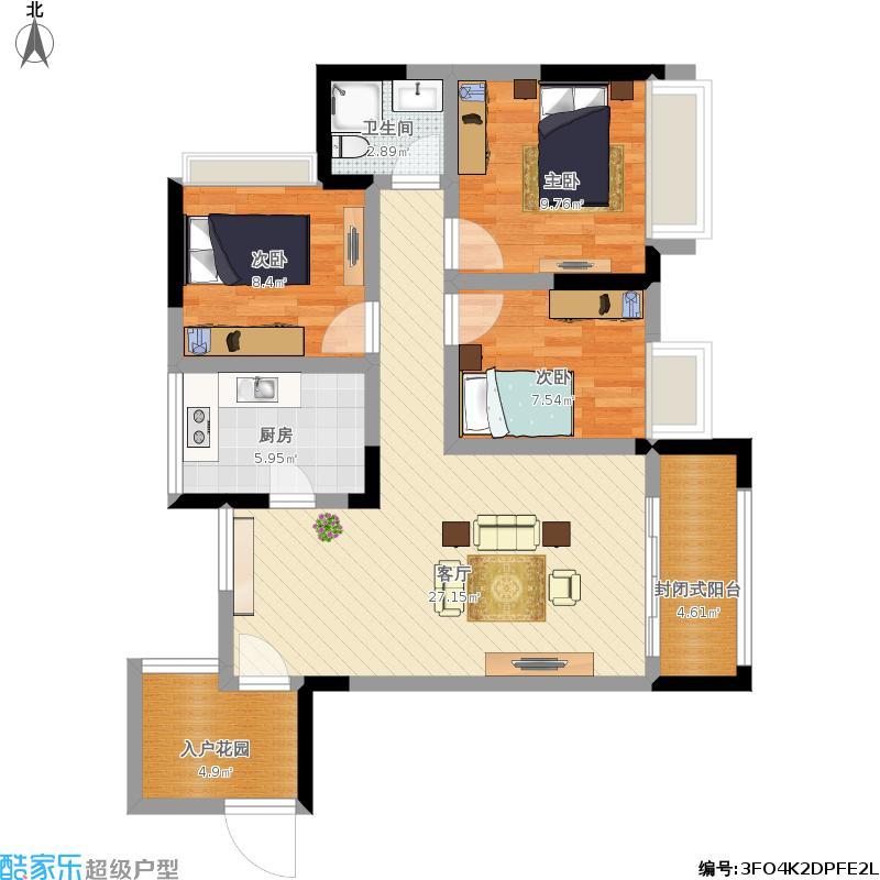 奥兰半岛3室2厅2卫户型图大全,装修户型图,户型图分析