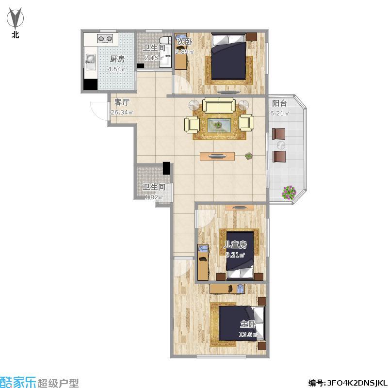 三室一厅塔楼户型图大全