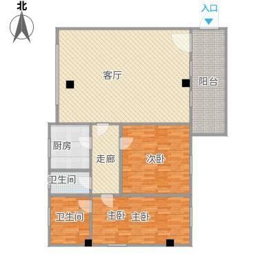 燃气大楼89.00㎡户型2室1厅1卫
