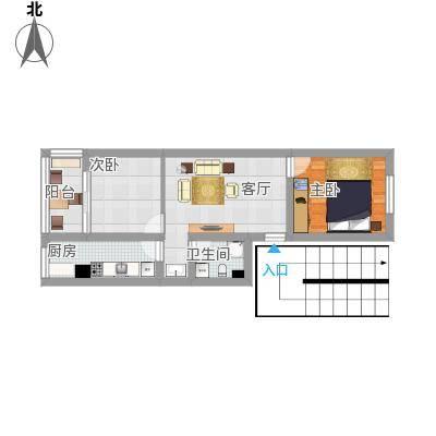 方案2_建欣苑三里的户型图