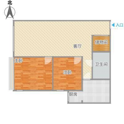 建欣苑六里B的户型图