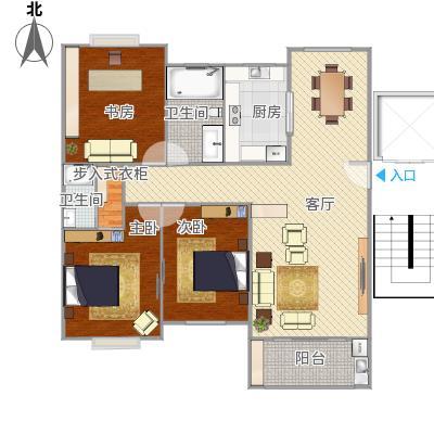 银山花园7号1101室户型图