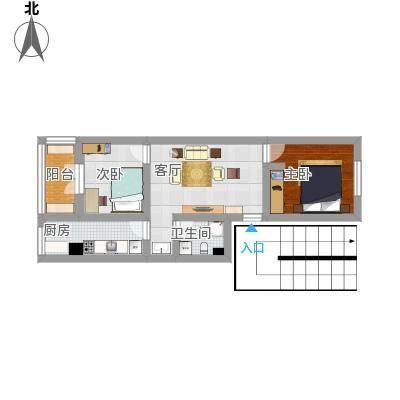 方案3_建欣苑三里的户型图