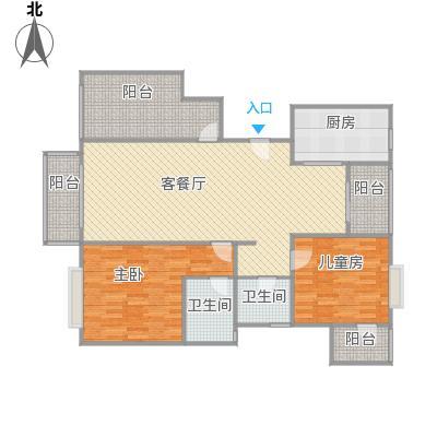全景公寓C1户型改后平面图