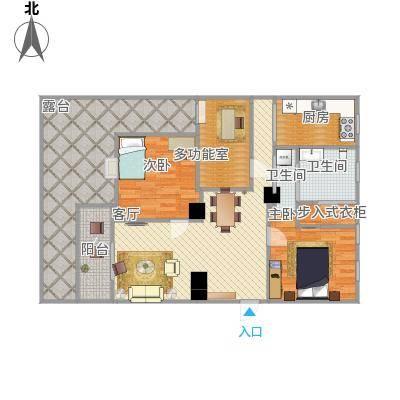 114方三室一厅一卫
