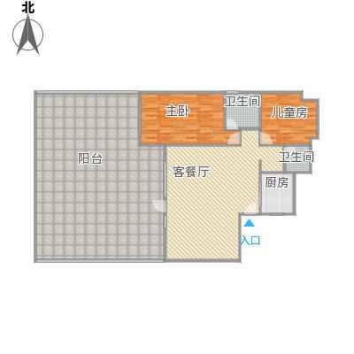 亲地洋房133.01㎡改后平面图